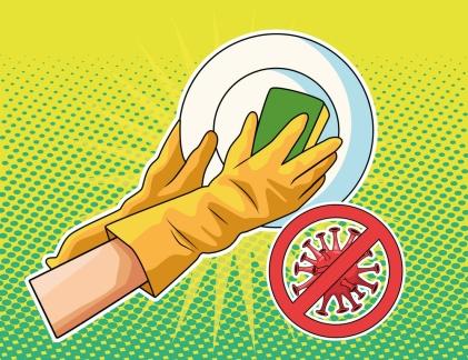 washing utensils prevention method covid19